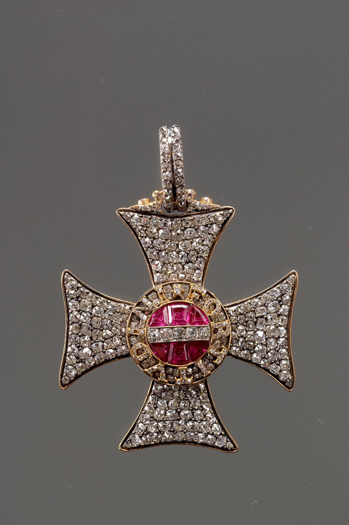 Kreuz des Militär-Maria-Theresien-Ordens von Johann Michael Grosser