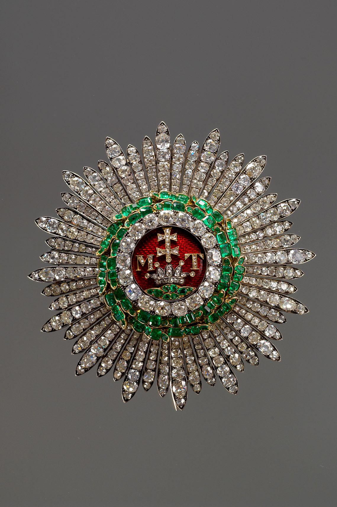 Stern des ungarischen St. Stephans-Ordens von Joseph und Anton Biedermann