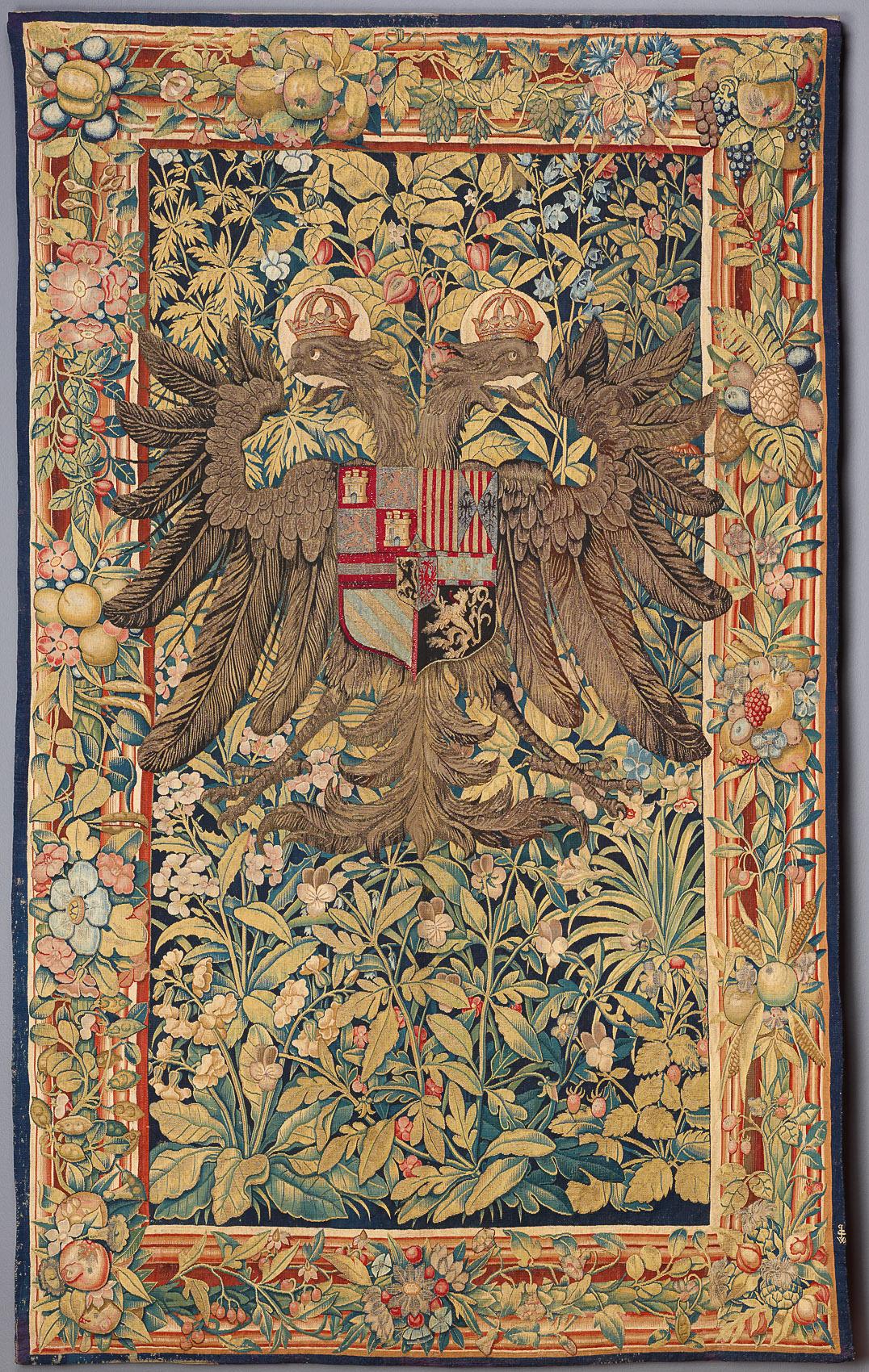 7. Ein gekrönter kaiserlich römischer Doppeladler in einer Verdüre