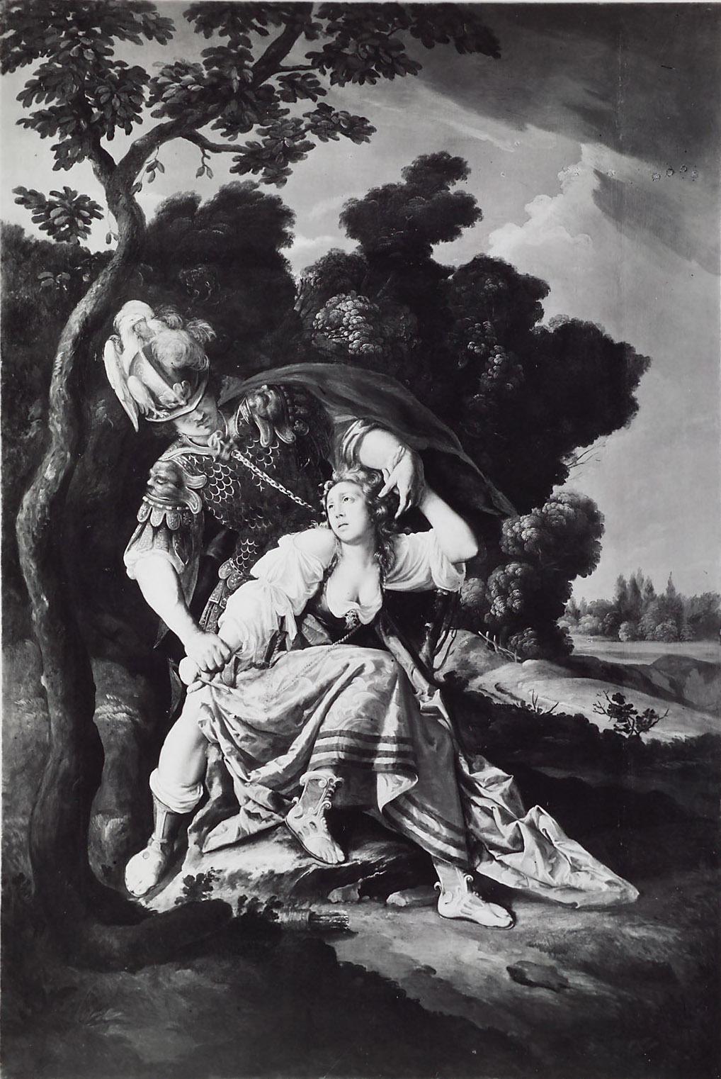 Rinaldo entwaffnet Armida von Lorenzo Lippi