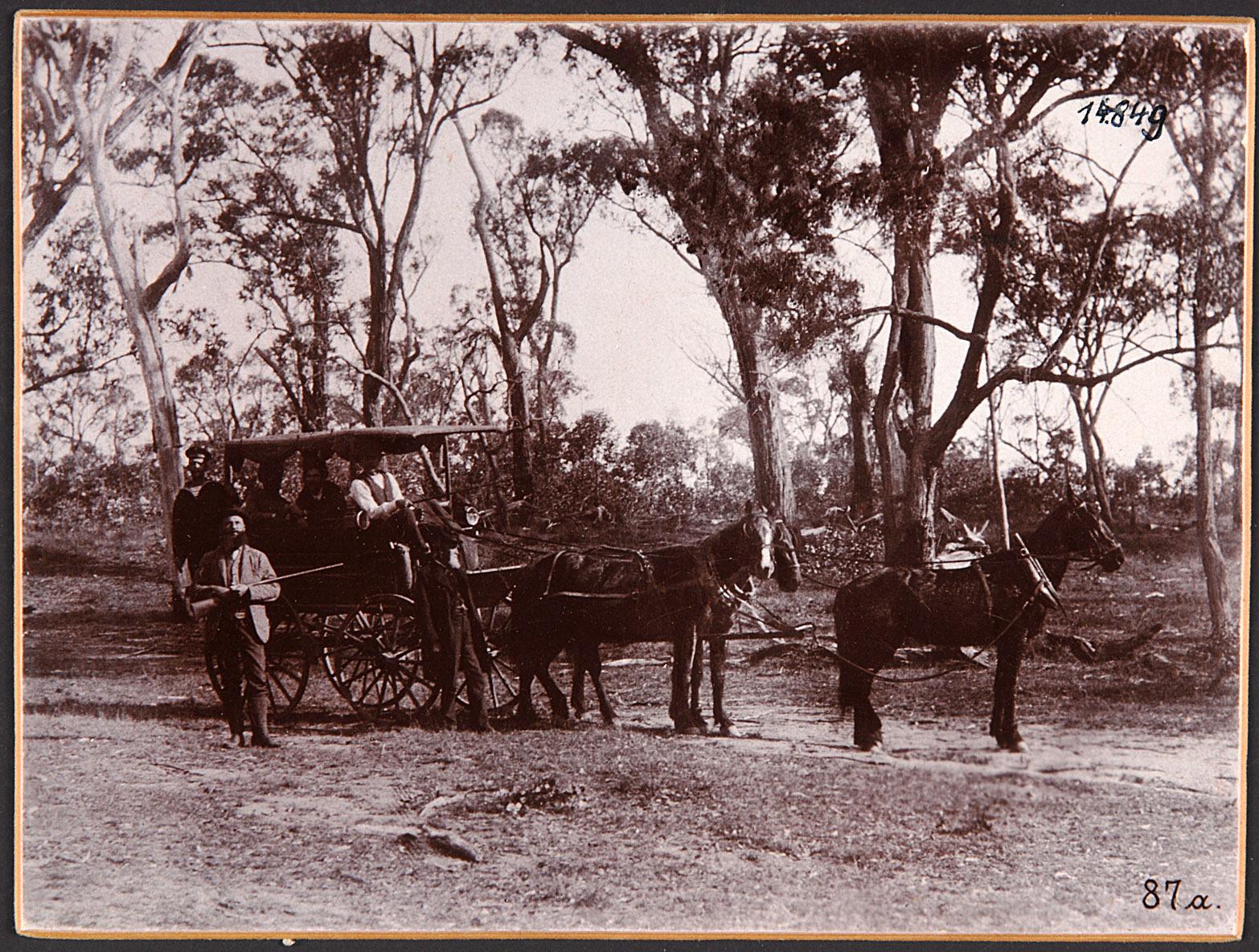 """Australien, """"Im australischen Busch"""". 25.V.1893 von Eduard Hodek jun."""
