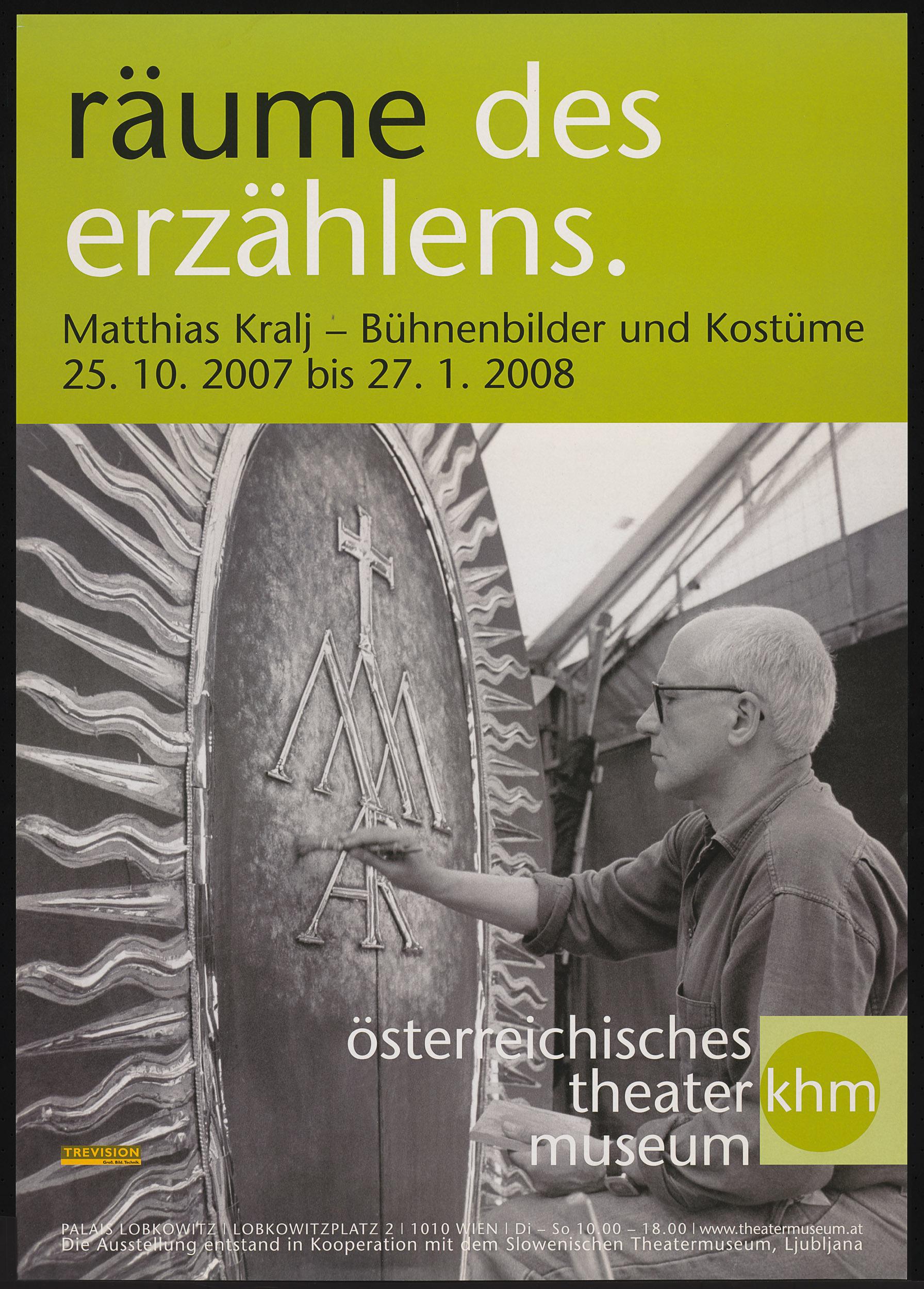 räume des erzählen. Martin Kralj - Bühnenbilder und Kostüme von Theatermuseum, Wien