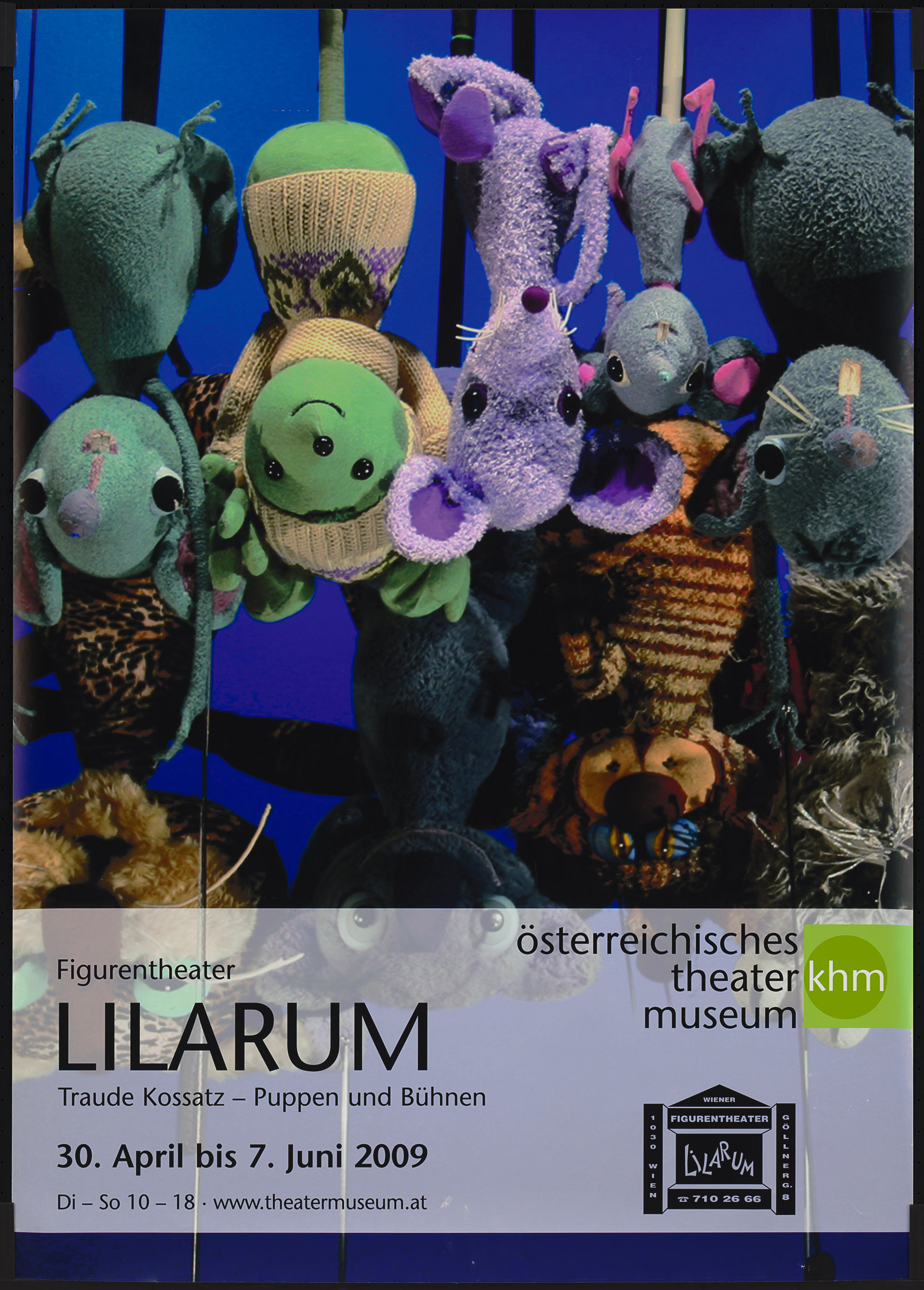Figurentheater LILARUM. Traude Kossatz - Puppen und Bühnen von Theatermuseum, Wien