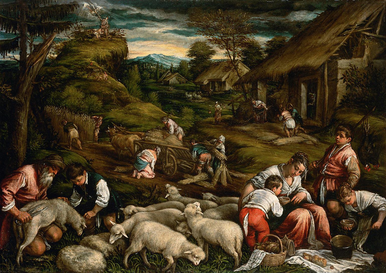 Sommer (Opferung Isaaks) von Francesco da Ponte, gen. Francesco Bassano