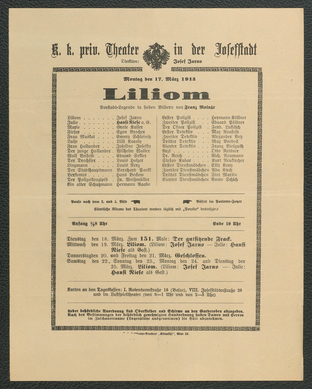 Liliom von Franz Molnar