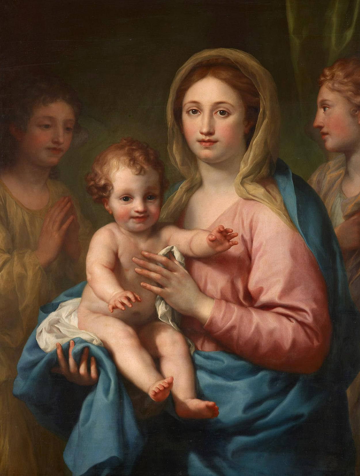 Maria mit dem Kind und zwei Engeln von Anton Raphael Mengs