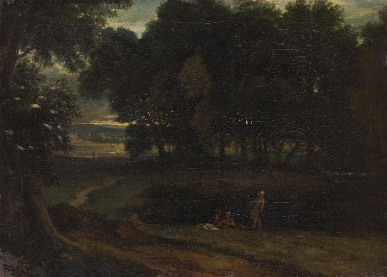 Waldlandschaft mit Badenden von Jean François Millet
