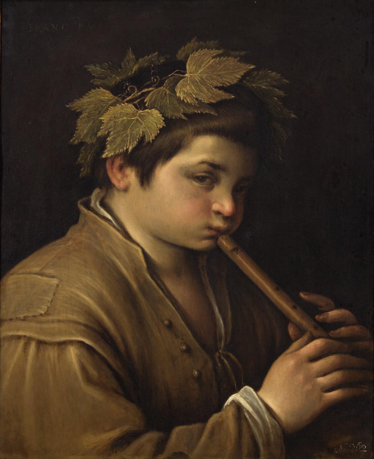 Knabe mit Flöte von Francesco da Ponte, gen. Francesco Bassano