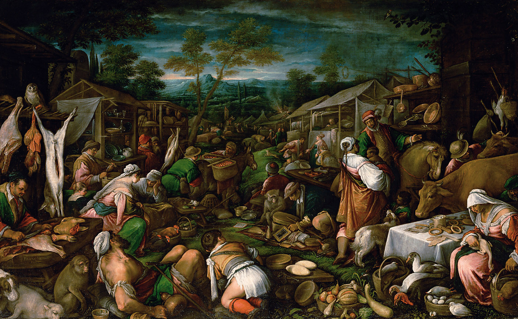Jahrmarkt von Francesco da Ponte, gen. Francesco Bassano