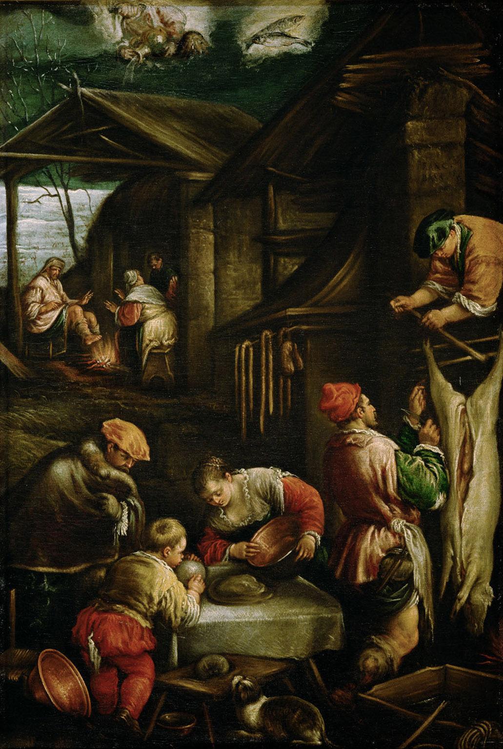 Winter (Schweineschlachten) von Francesco da Ponte, gen. Francesco Bassano