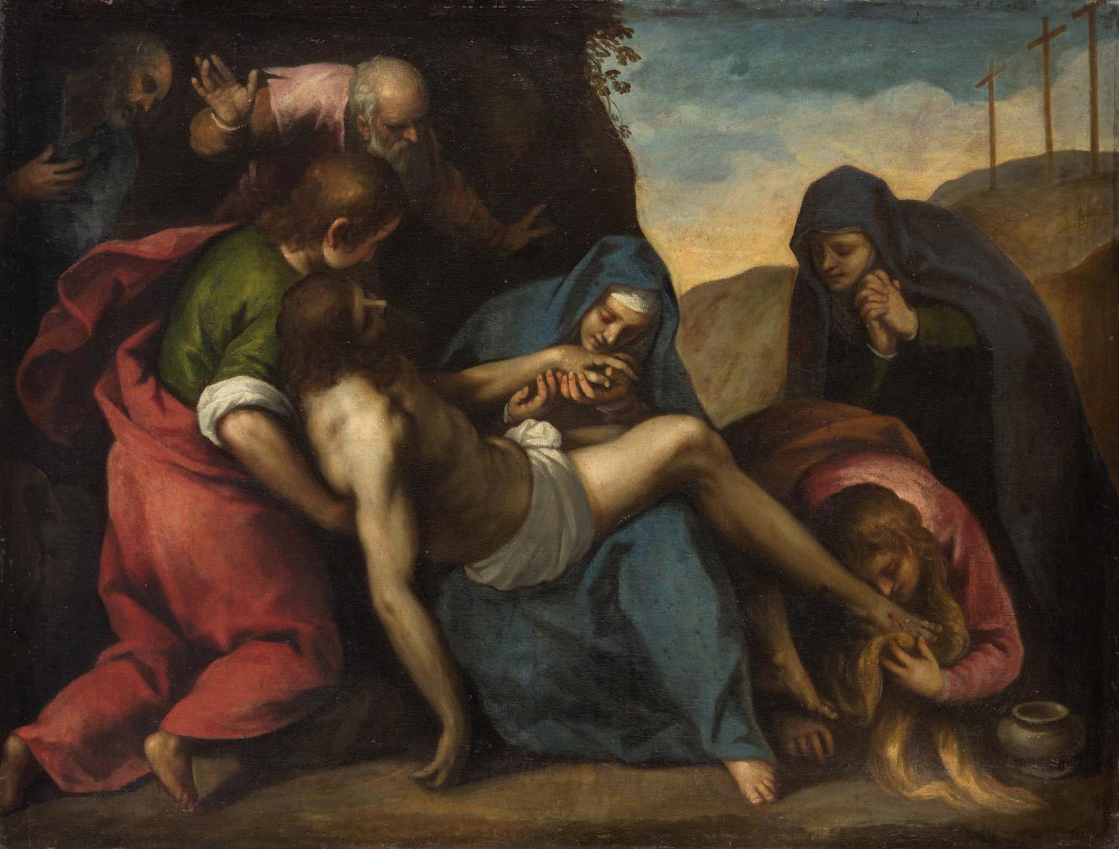 Beweinung Christi von Jacopo Negretti, gen. Palma il Giovane