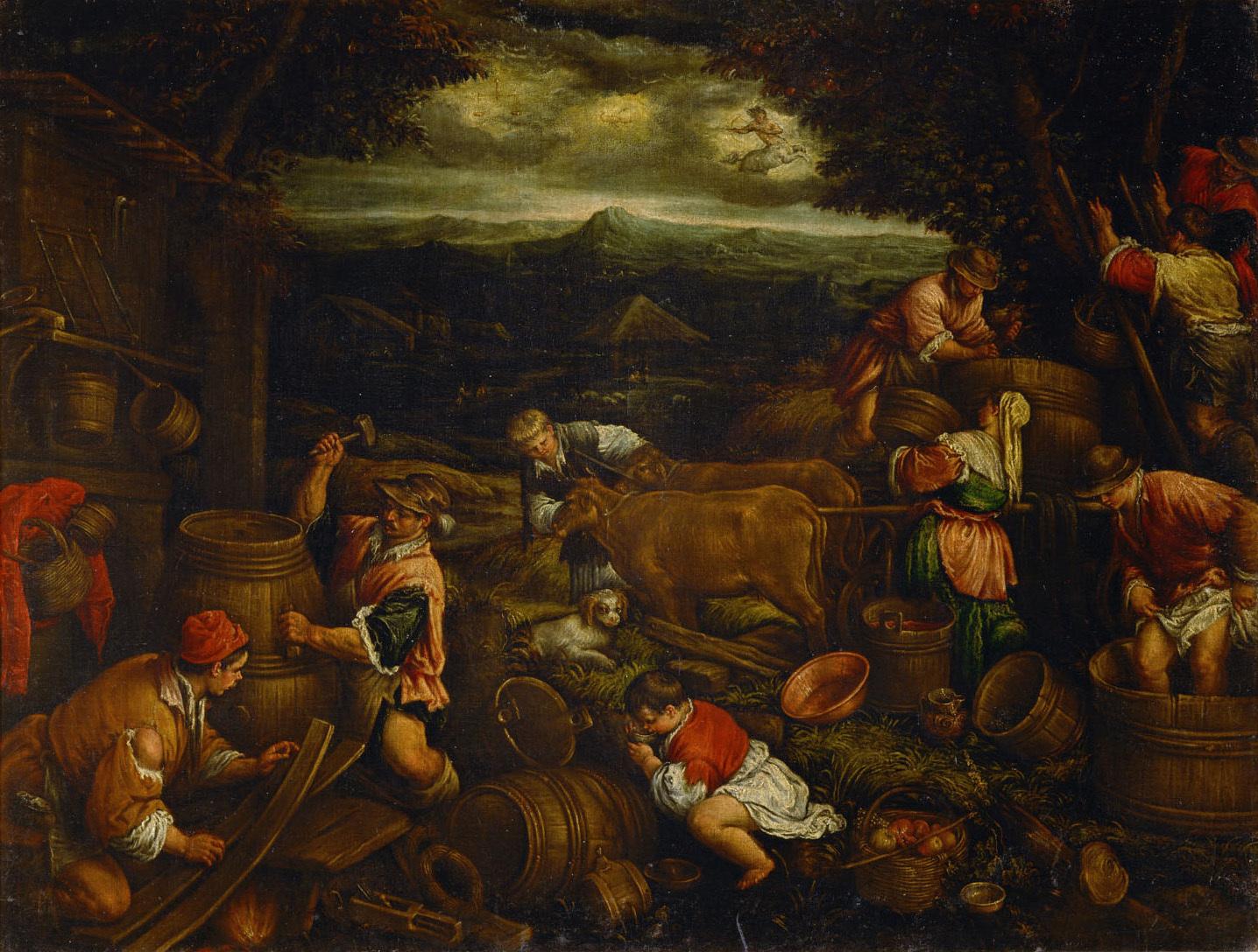 Herbst (Weinlese) von Francesco da Ponte, gen. Francesco Bassano
