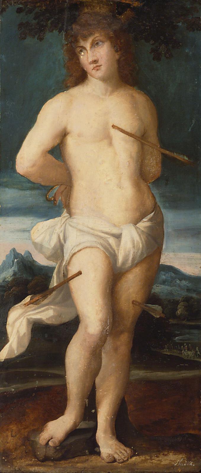 Hl. Sebastian von Jacopo Negretti, gen. Palma il Vecchio