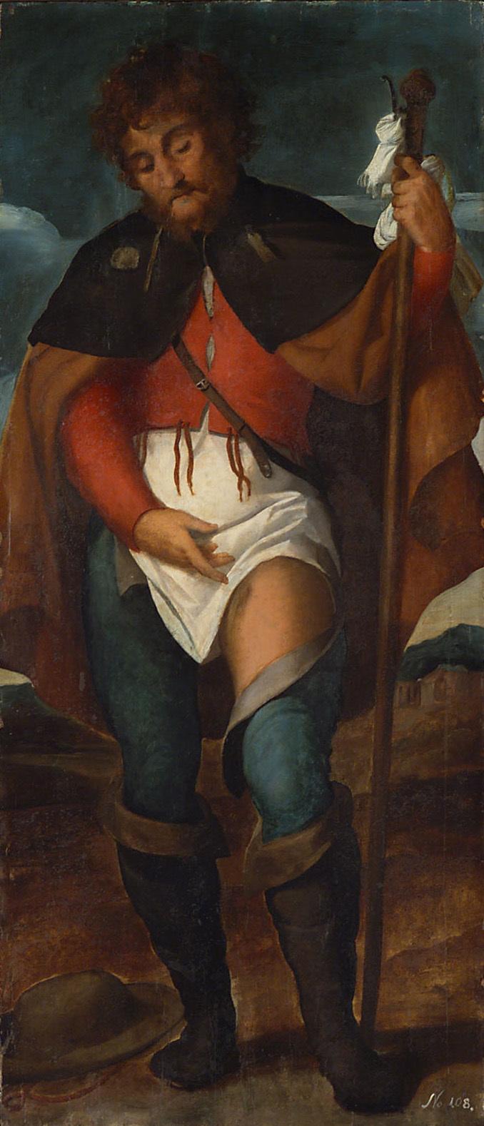 Hl. Rochus von Jacopo Negretti, gen. Palma il Vecchio