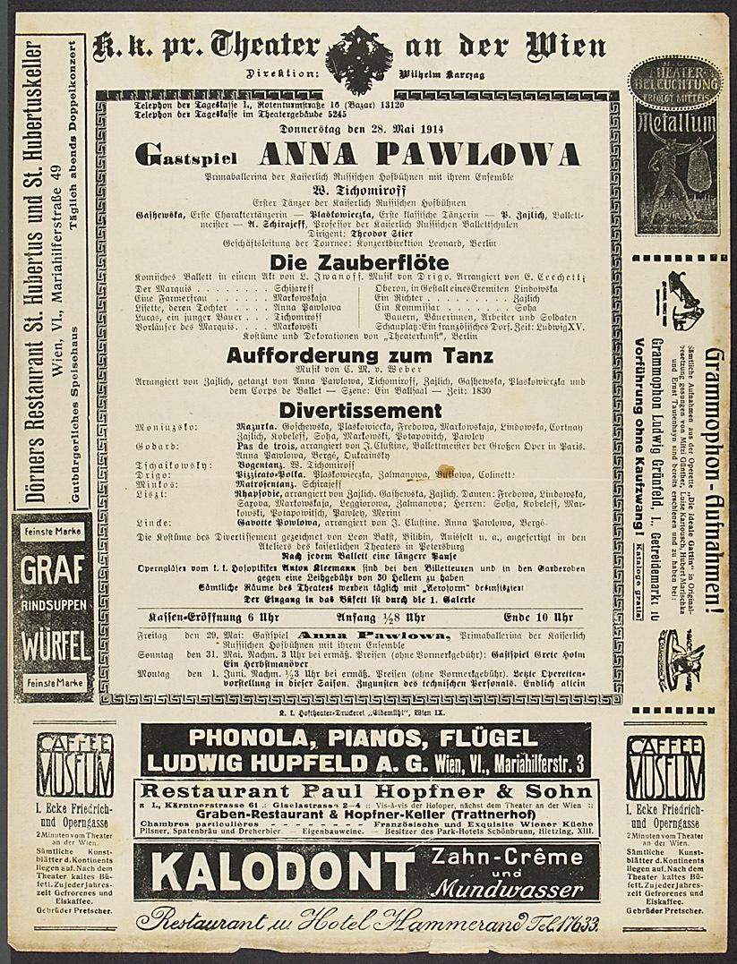 Gastspiel Anna Pawlowa von Anna Pawlowa