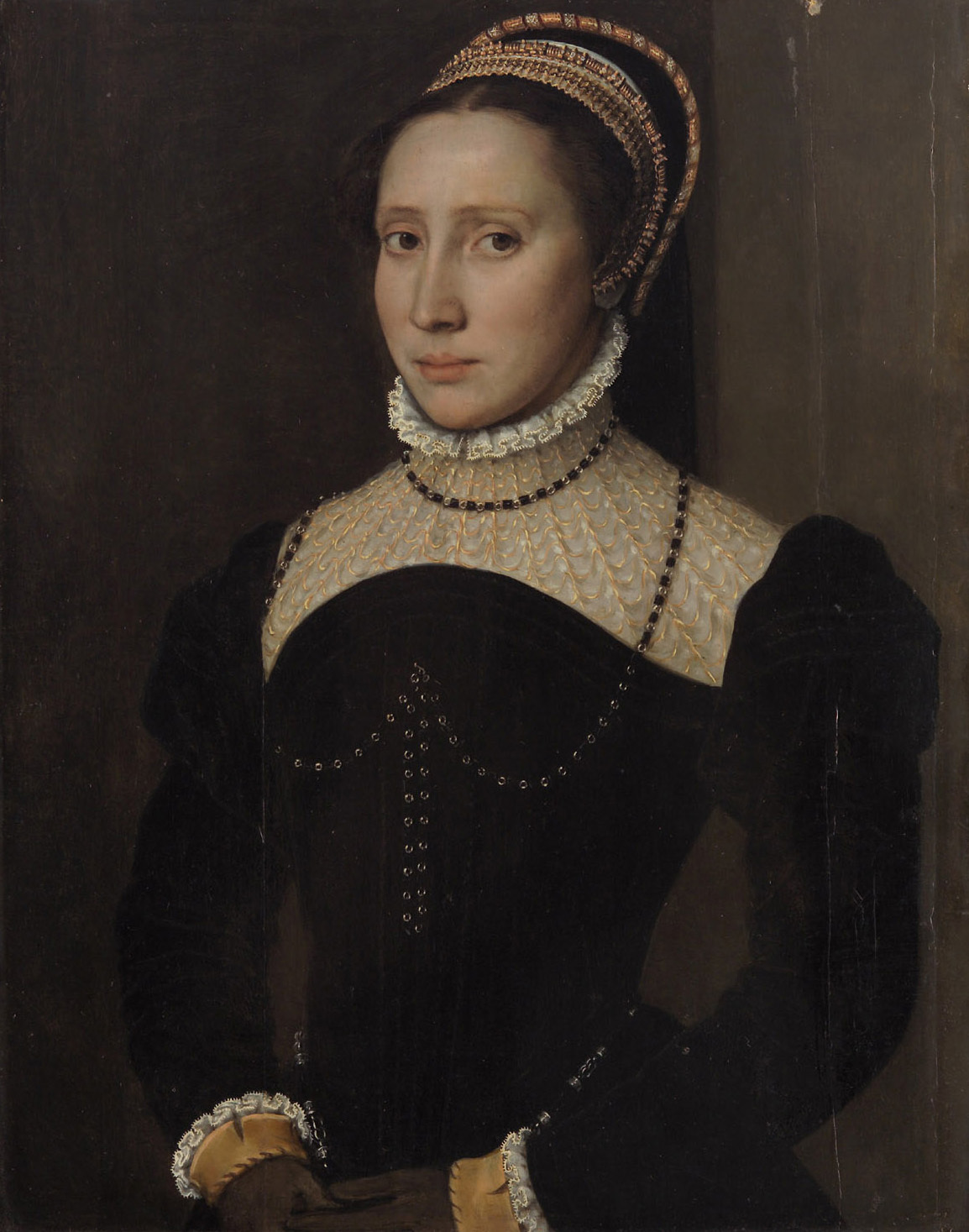 Weibliches Bildnis von Niederländisch