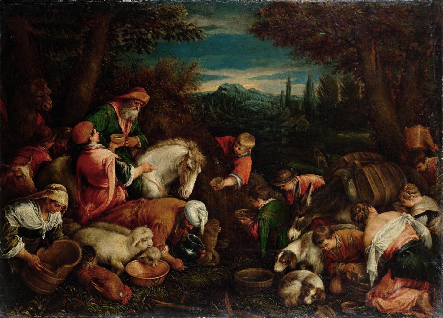 Wunder aus der Quelle von Mara von Francesco da Ponte, gen. Francesco Bassano