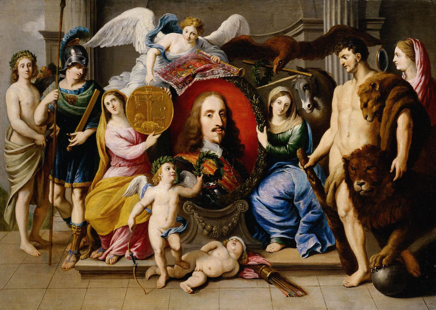 Allegorie auf Erzherzog Leopold Wilhelm (1614-1662) von Jan van den Hoecke