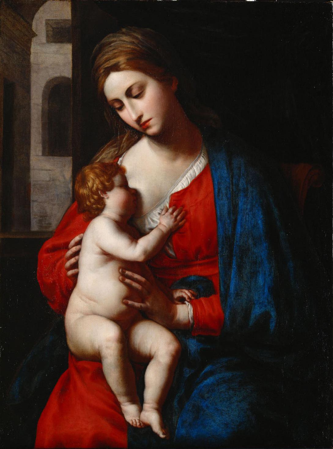 Maria mit Kind von Alessandro Turchi, gen. L'Orbetto