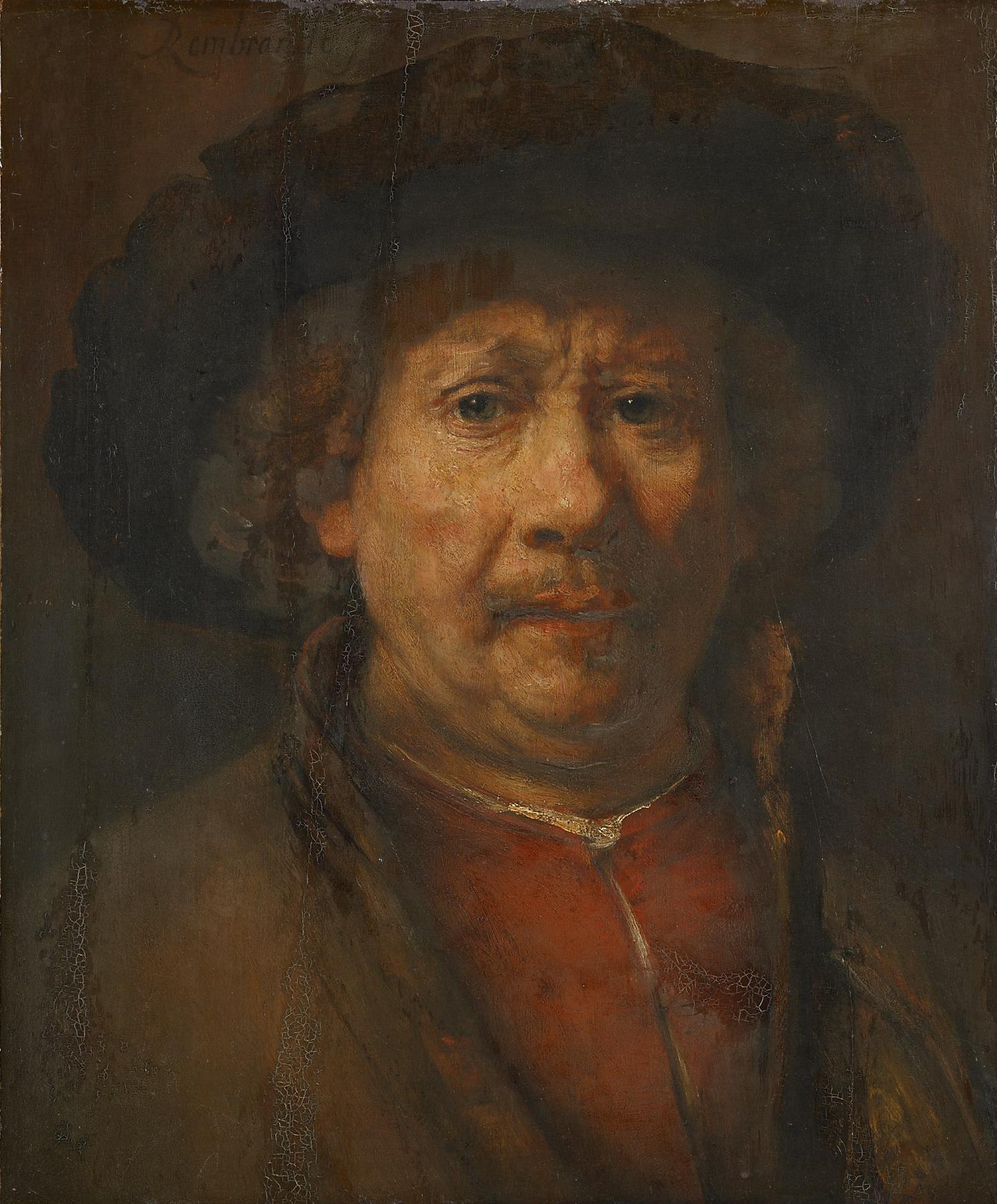 Kleines Selbstbildnis von Rembrandt Harmensz van Rijn