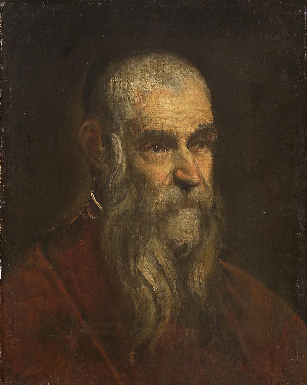 Brustbild eines alten Mannes von Domenico Robusti, gen. Domenico Tintoretto