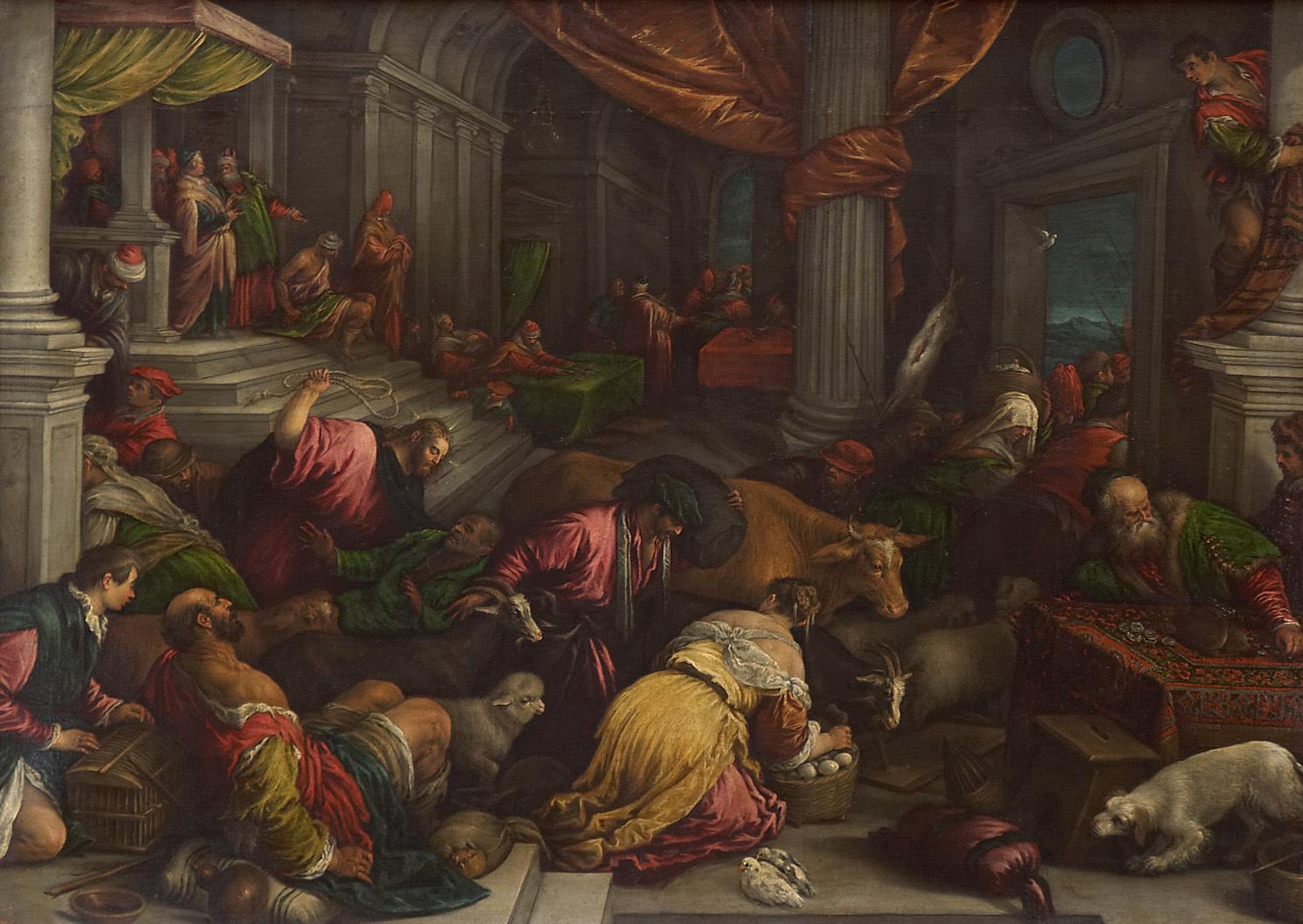 Christus vertreibt die Händler aus dem Tempel von Leandro da Ponte, gen. Leandro Bassano