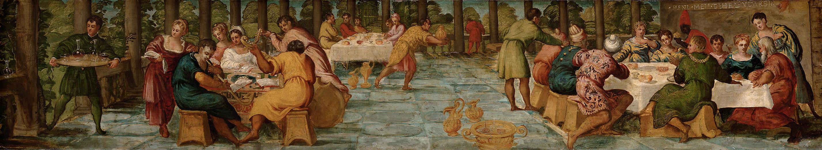 Gastmahl des Königs Belsazar von Jacopo Robusti, gen. Tintoretto