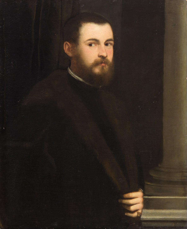 Bildnis eines jungen bärtigen Mannes von Jacopo Robusti, gen. Tintoretto