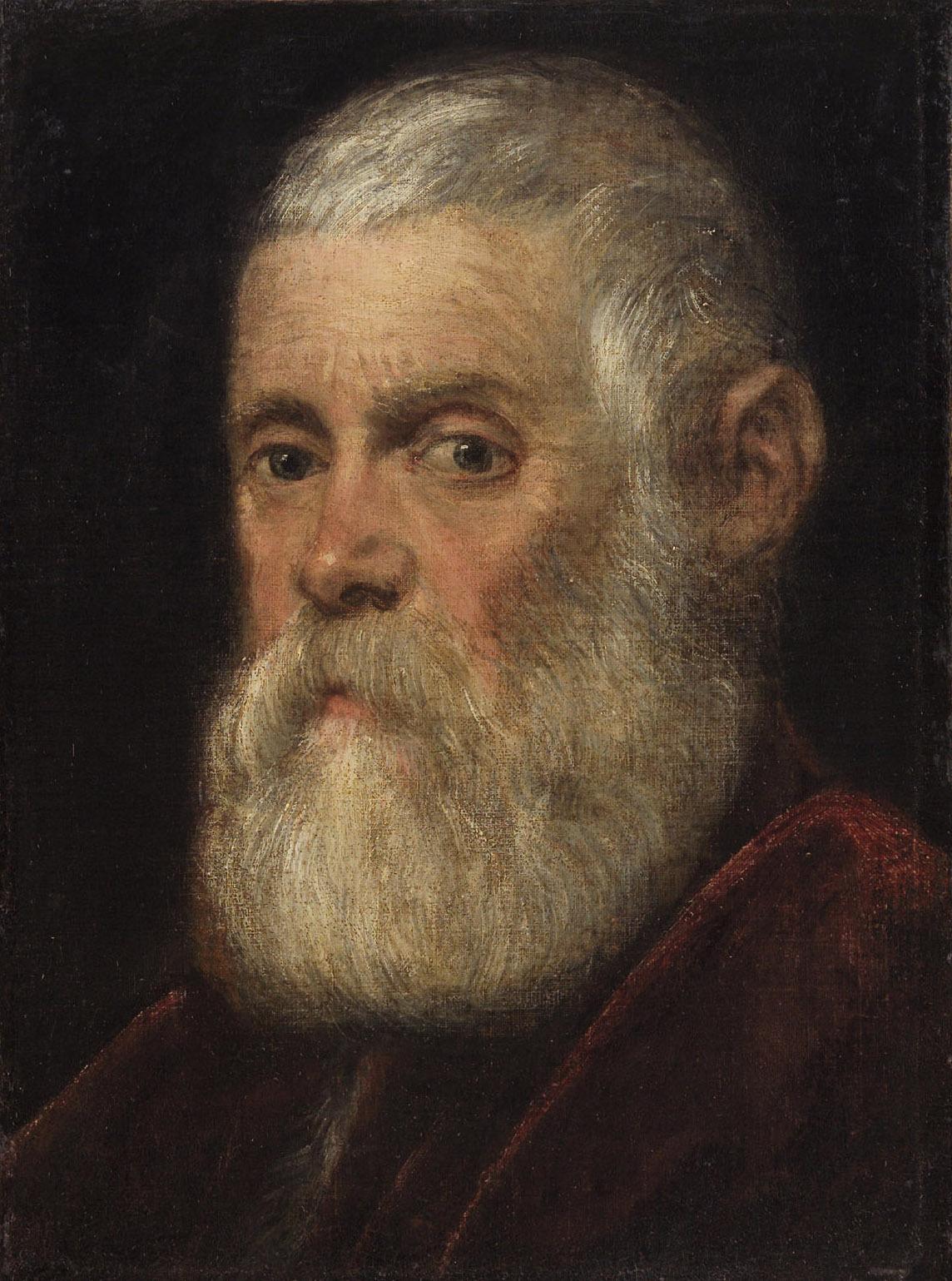Bildnis eines weißbärtigen Prokurators von Jacopo Robusti, gen. Tintoretto