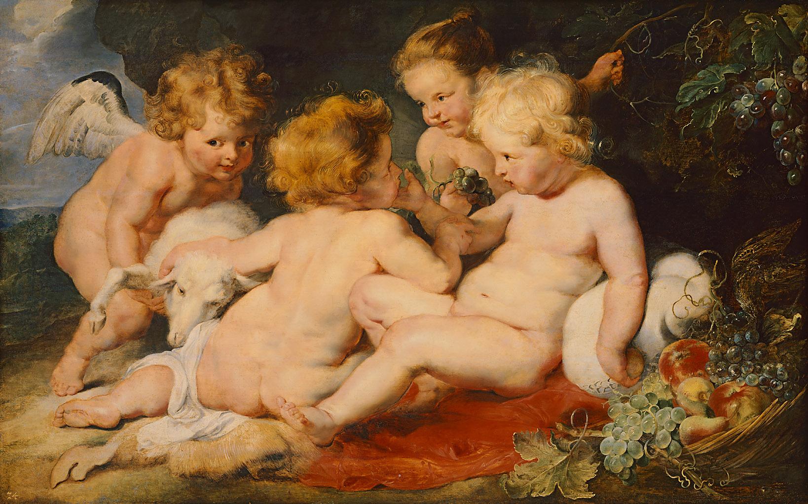 Christuskind mit Johannesknaben und zwei Engeln von Peter Paul Rubens