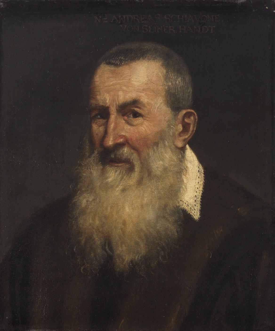 Bildnis eines Greises von Andrea Meldolla, gen. Schiavone