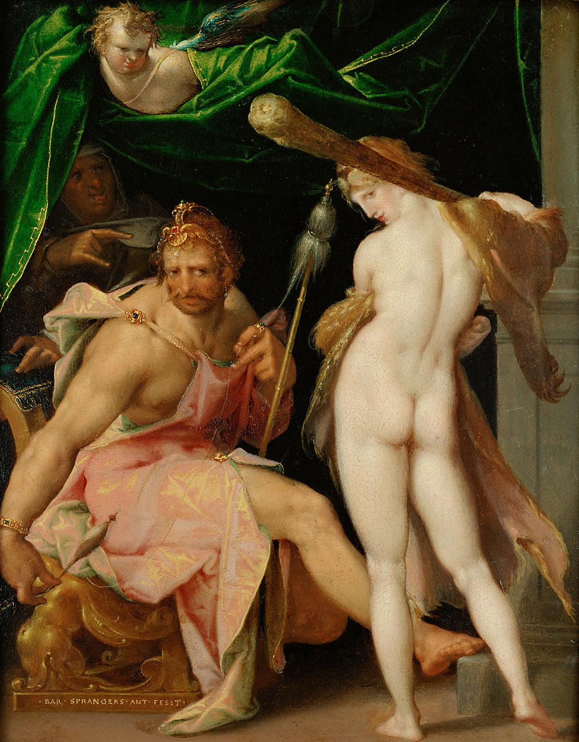 Herkules und Omphale von Bartholomäus Spranger