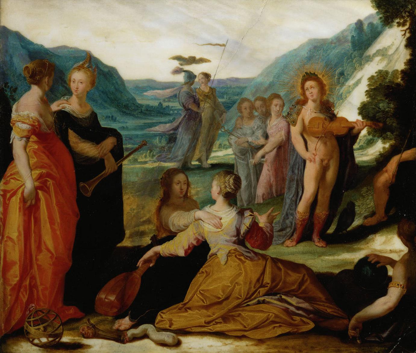 Apollo und die Musen von Bartholomäus Spranger