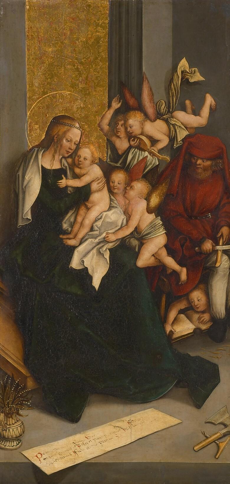 Heilige Familie mit Engeln von Bernhard Strigel