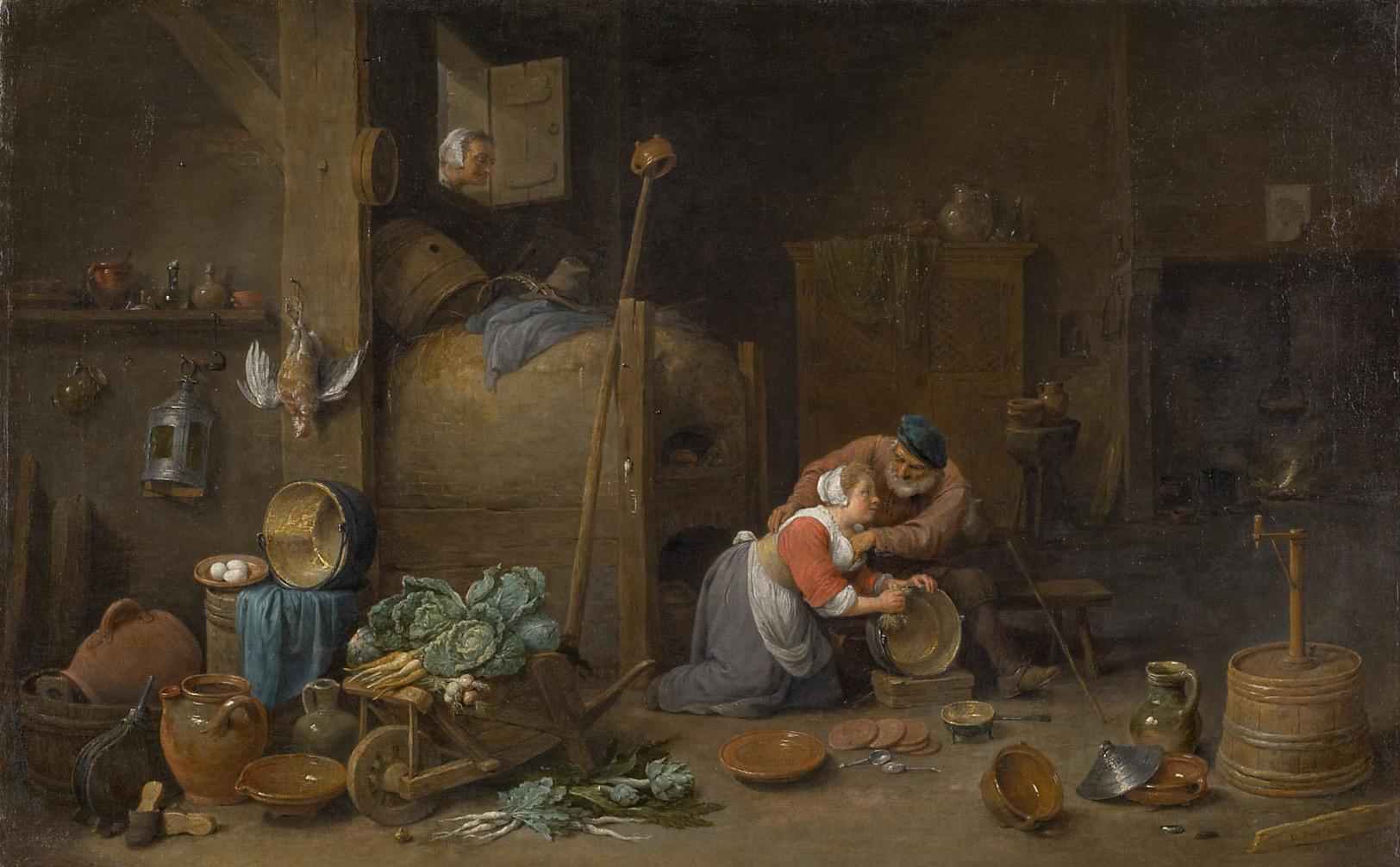 Alter und Küchenmagd von David Teniers d. J.