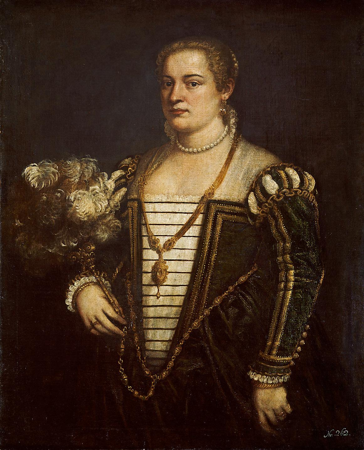 Tizians Tochter Lavinia (?) (1530-1561) von Tiziano Vecellio, gen. Tizian