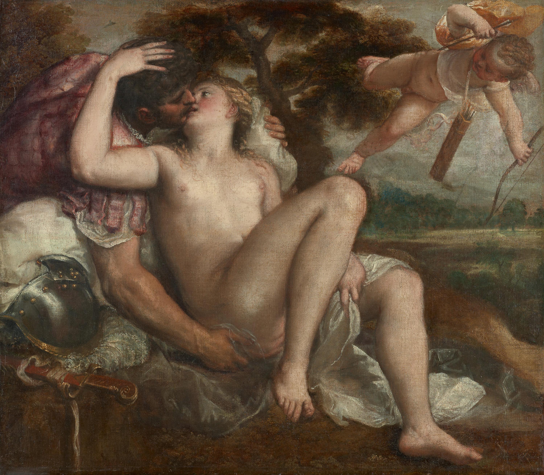 Mars, Venus und Amor von Tiziano Vecellio, gen. Tizian