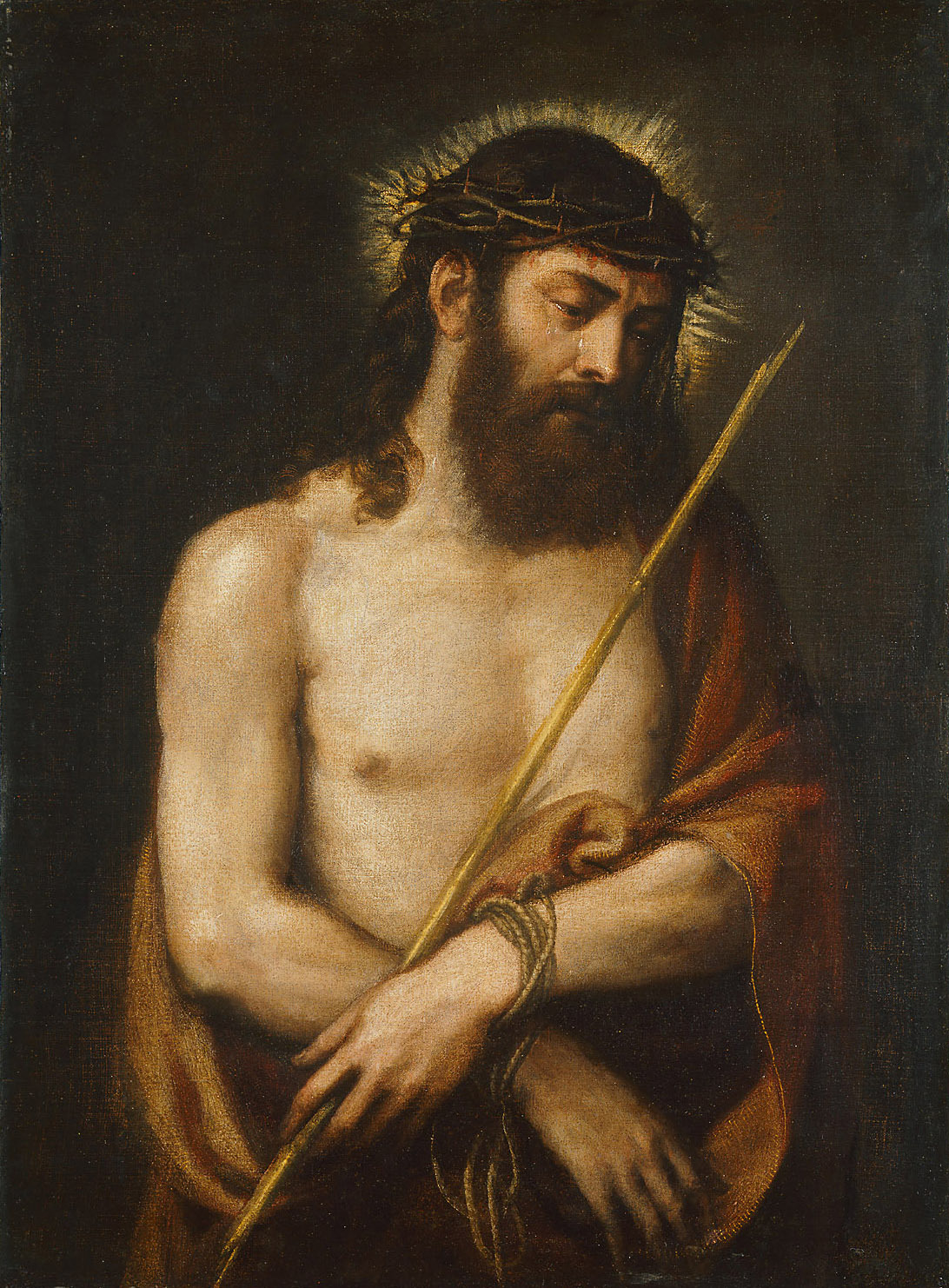Christus mit der Dornenkrone von Tiziano Vecellio, gen. Tizian