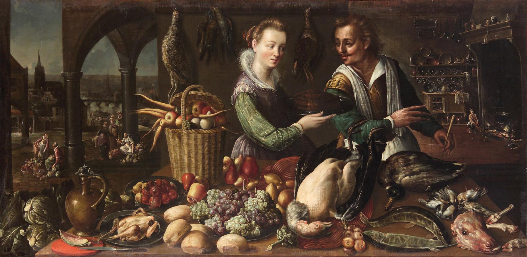 Küchenstück von Frederik I. van Valckenborch