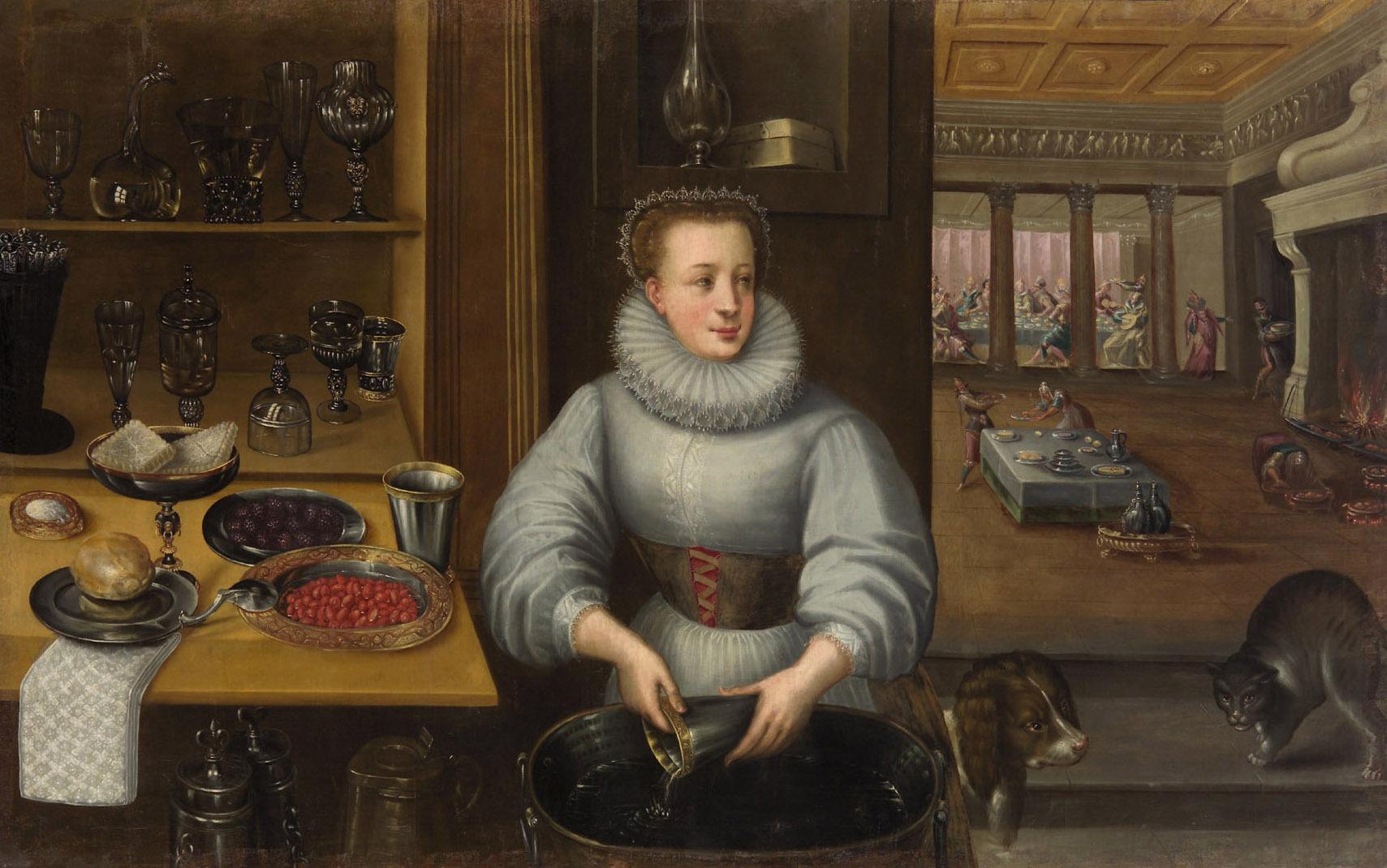 Küchenmagd von Frederik I. van Valckenborch