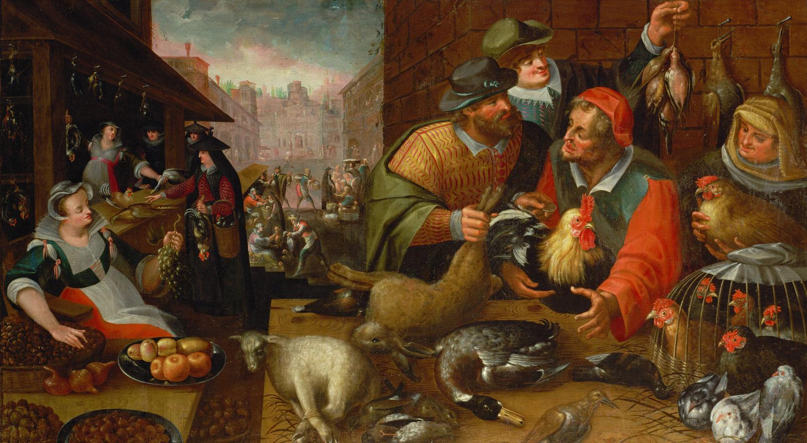 Geflügelmarkt (Herbst) von Frederik I. van Valckenborch