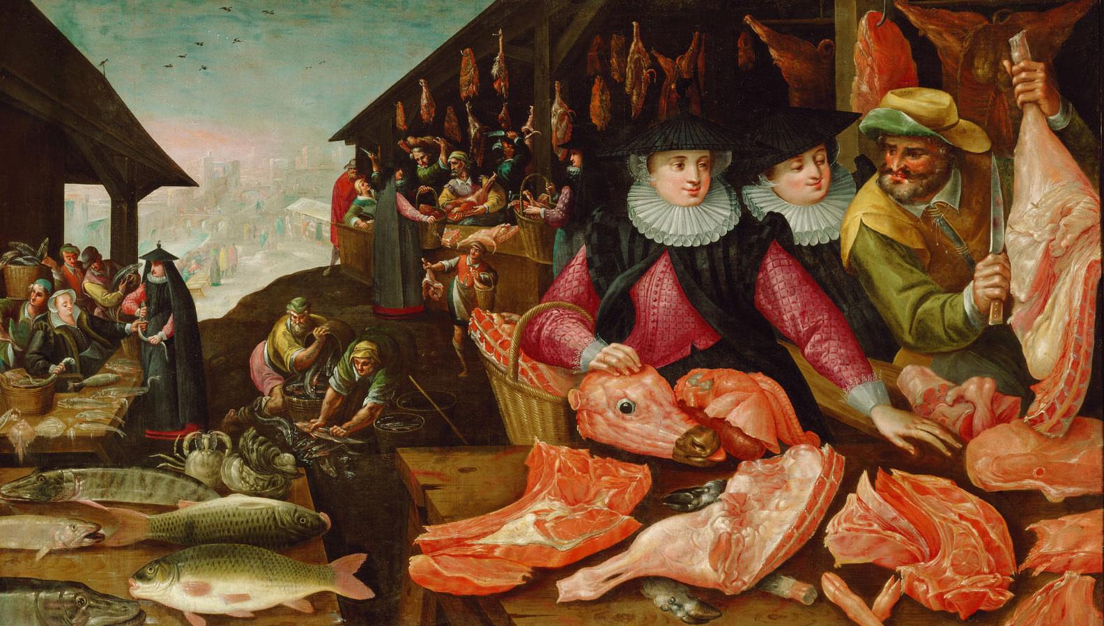 Fleischmarkt (Winter) von Frederik I. van Valckenborch