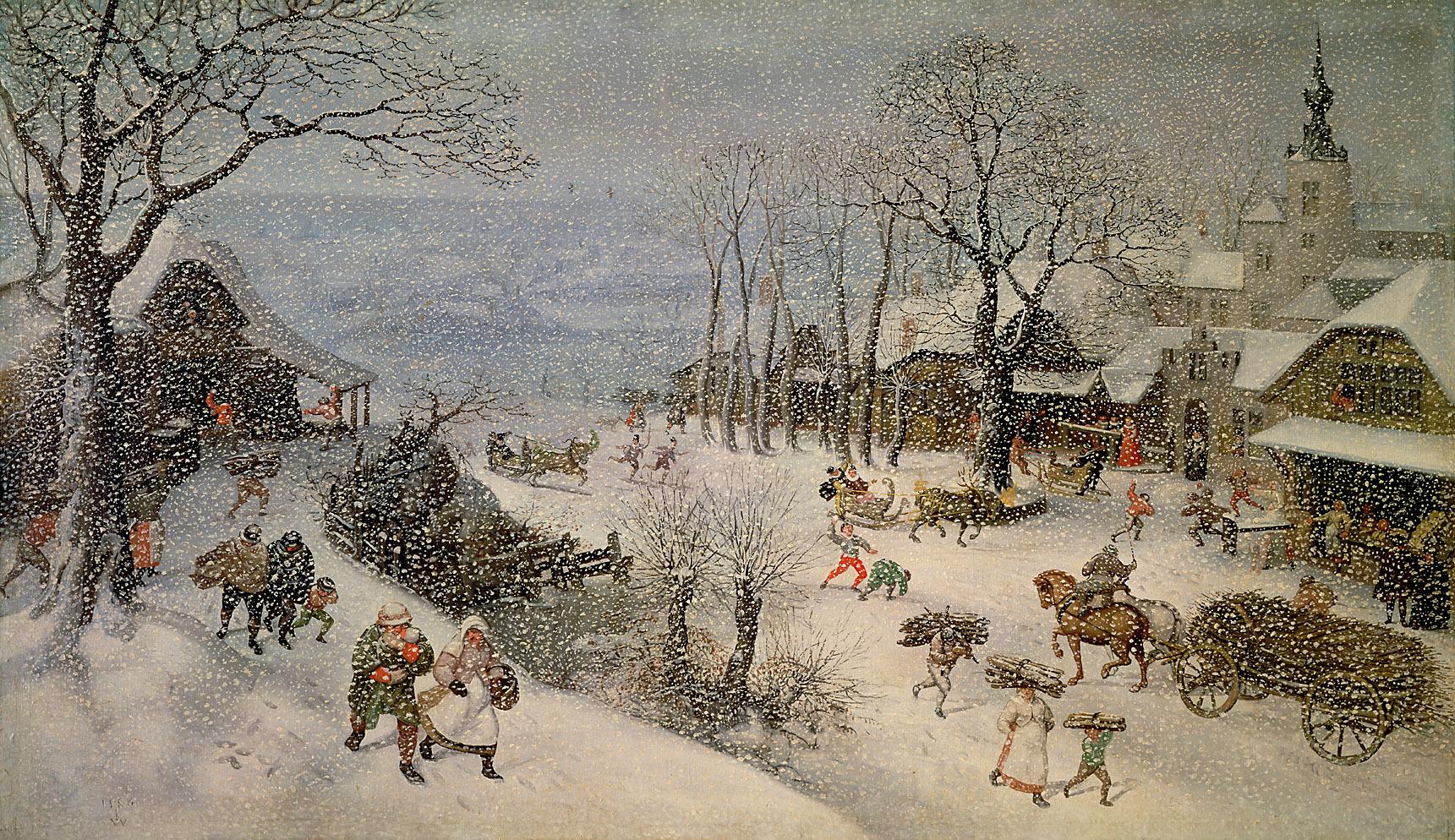 Winterlandschaft (Jänner oder Februar) von Lucas I. van Valckenborch