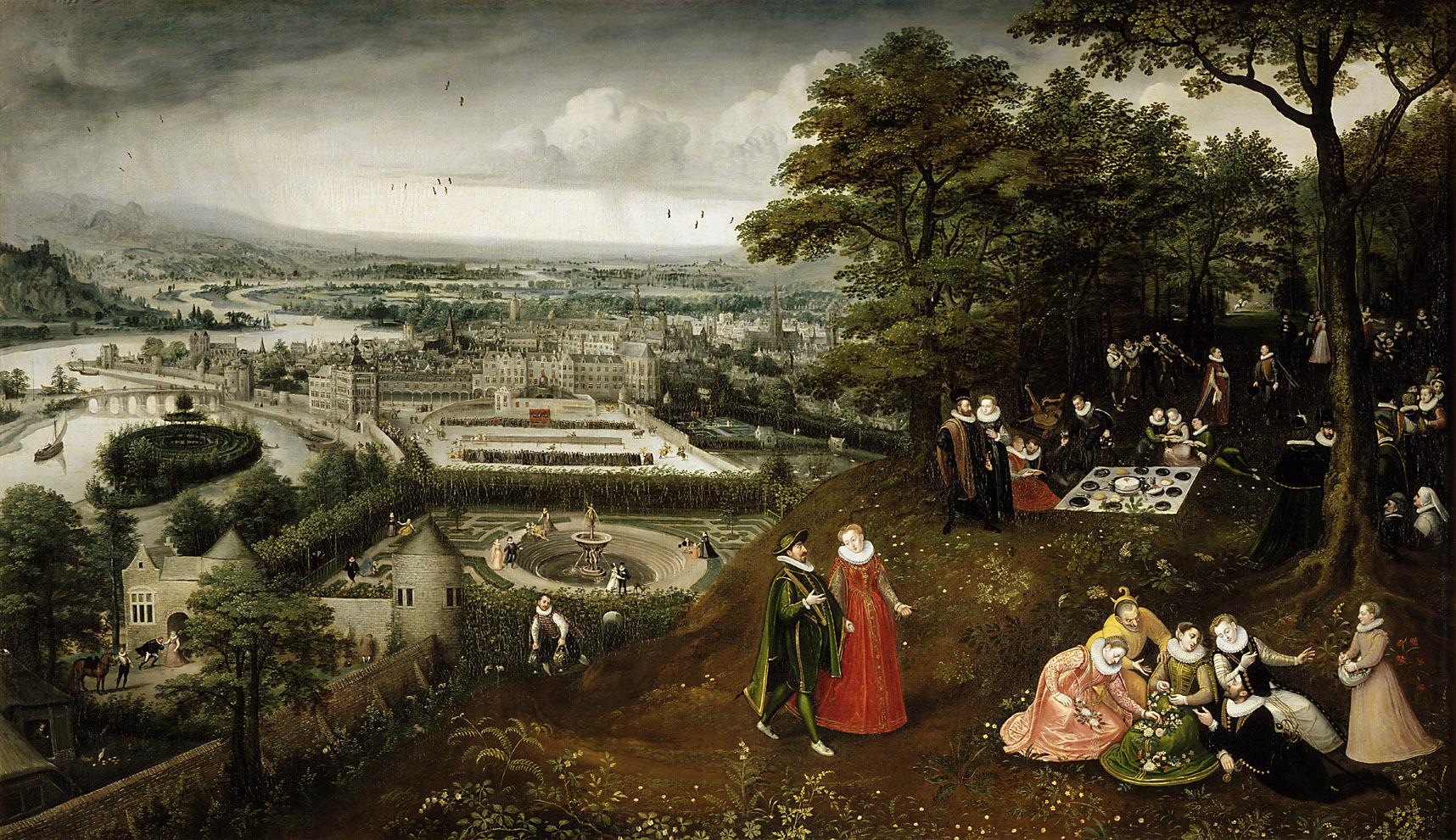 Frühlingslandschaft (Mai) von Lucas I. van Valckenborch