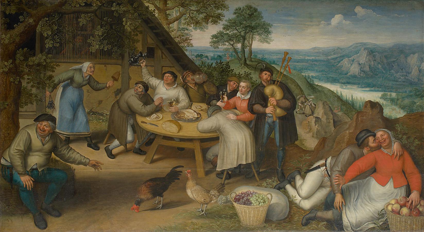 Bauernschenke von Lucas I. van Valckenborch