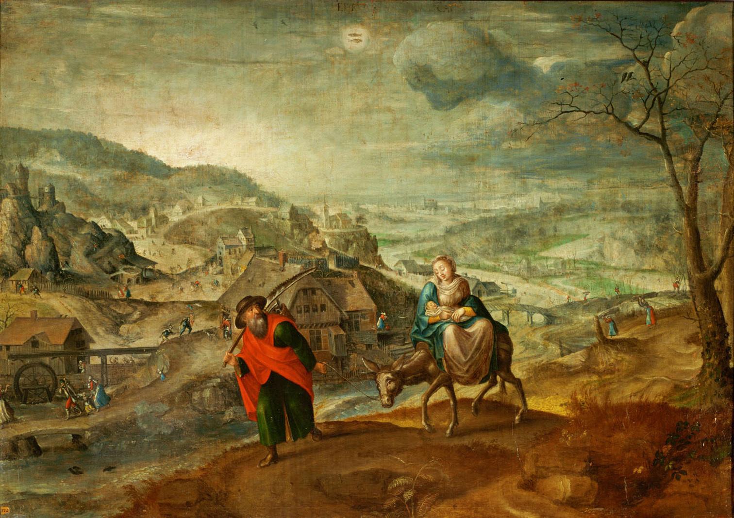 Flucht nach Ägypten (Februar) von Marten I. van Valckenborch