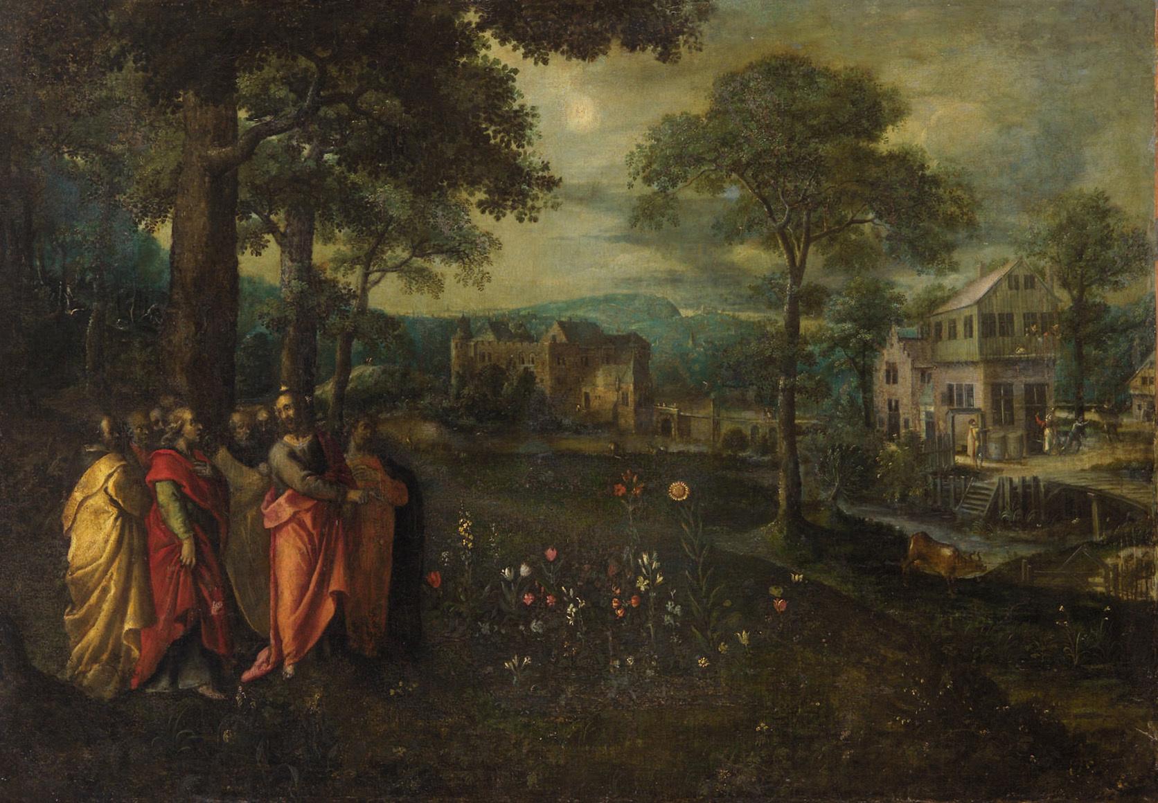 Gleichnis von der Lilie auf dem Feld (Mai) von Marten I. van Valckenborch