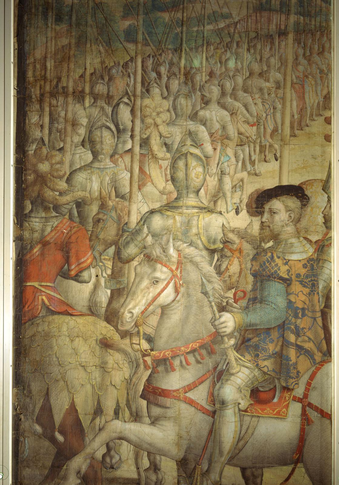 Kriegszug Kaiser Karls V. gegen Tunis (1535): Musterung des Heeres bei Barcelona durch den Kaiser von Jan Cornelisz Vermeyen