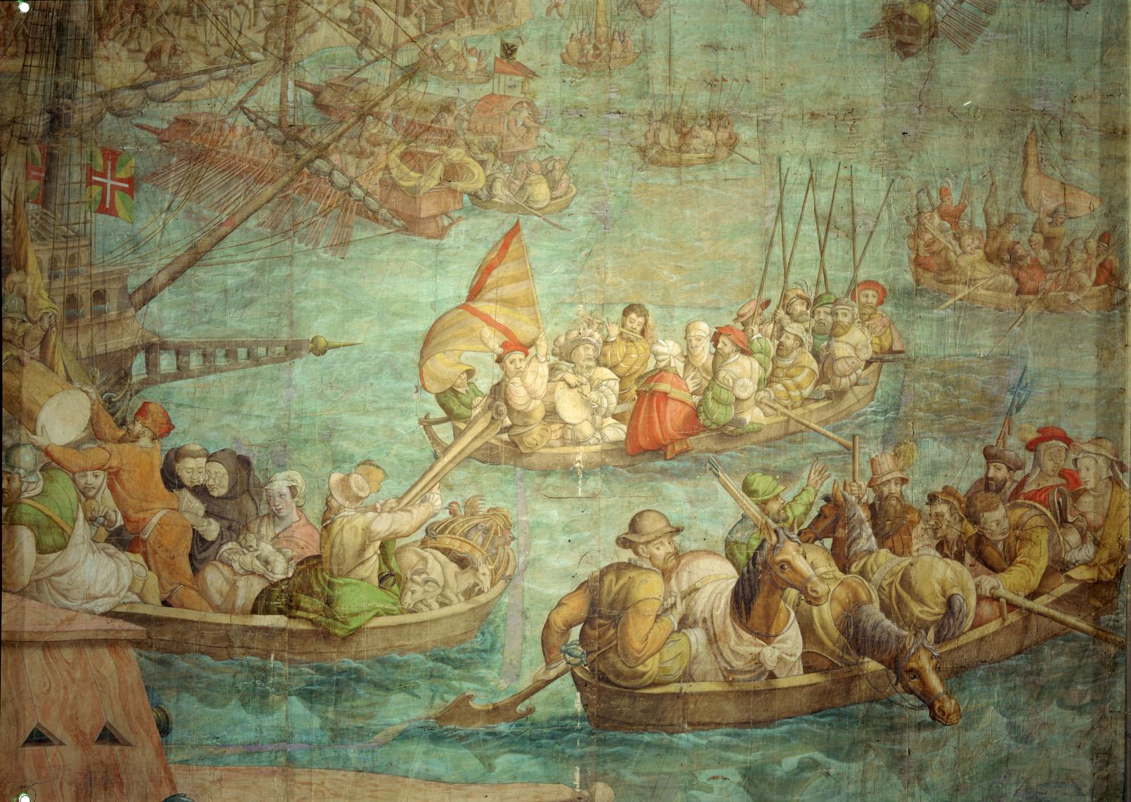 Kriegszug Kaiser Karls V. gegen Tunis (1535): Landung des Heeres im Hafen von Karthago von Jan Cornelisz Vermeyen