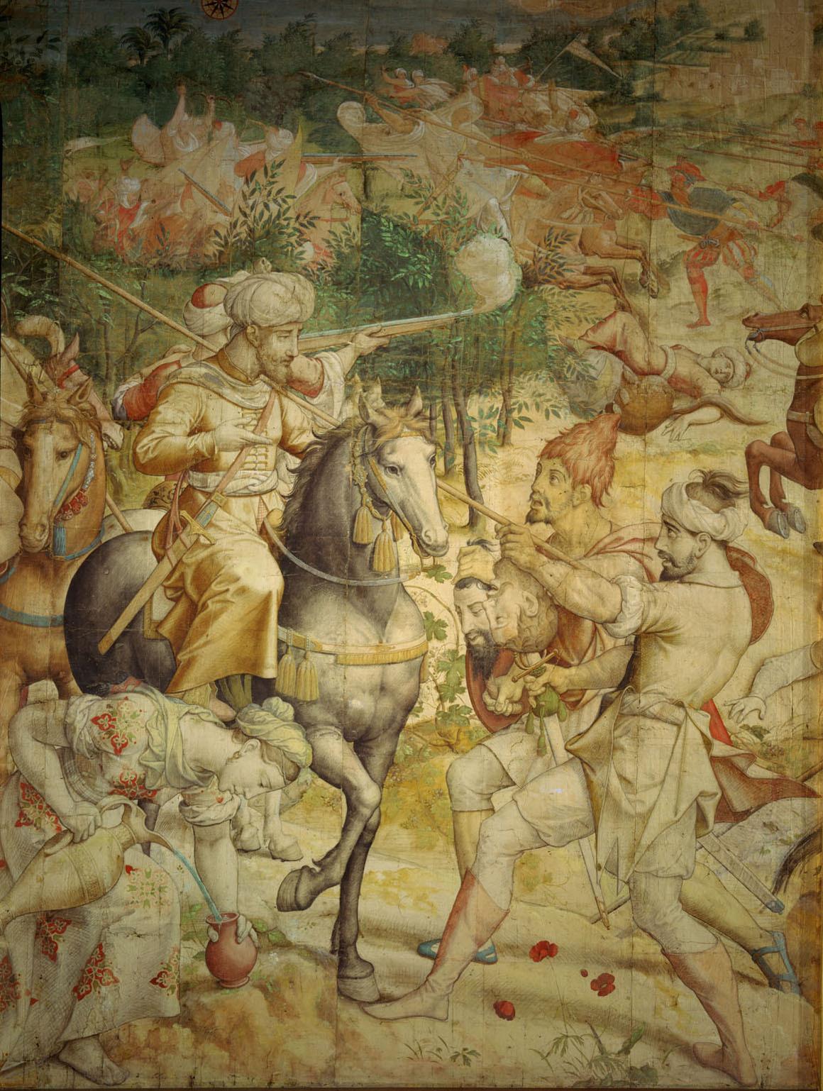 Kriegszug Kaiser Karls V. gegen Tunis (1535): Ausfall der Türken aus La Goletta von Jan Cornelisz Vermeyen